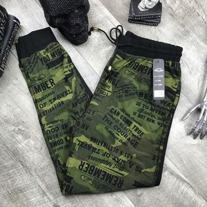Pants - Army  Camo camping varsity butter Soft joggers